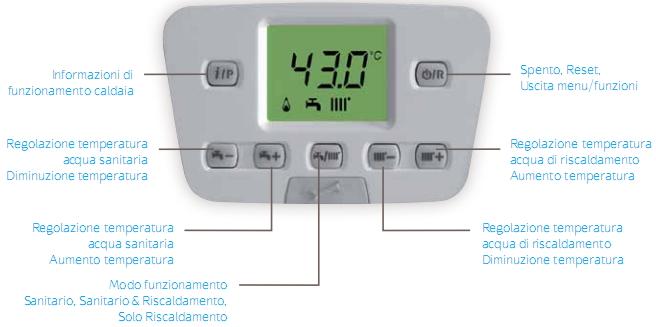 regolazione temperatura baxi